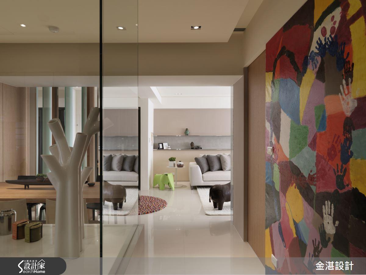 材質串連開放式場域設計 鮮活 35 坪現代居家