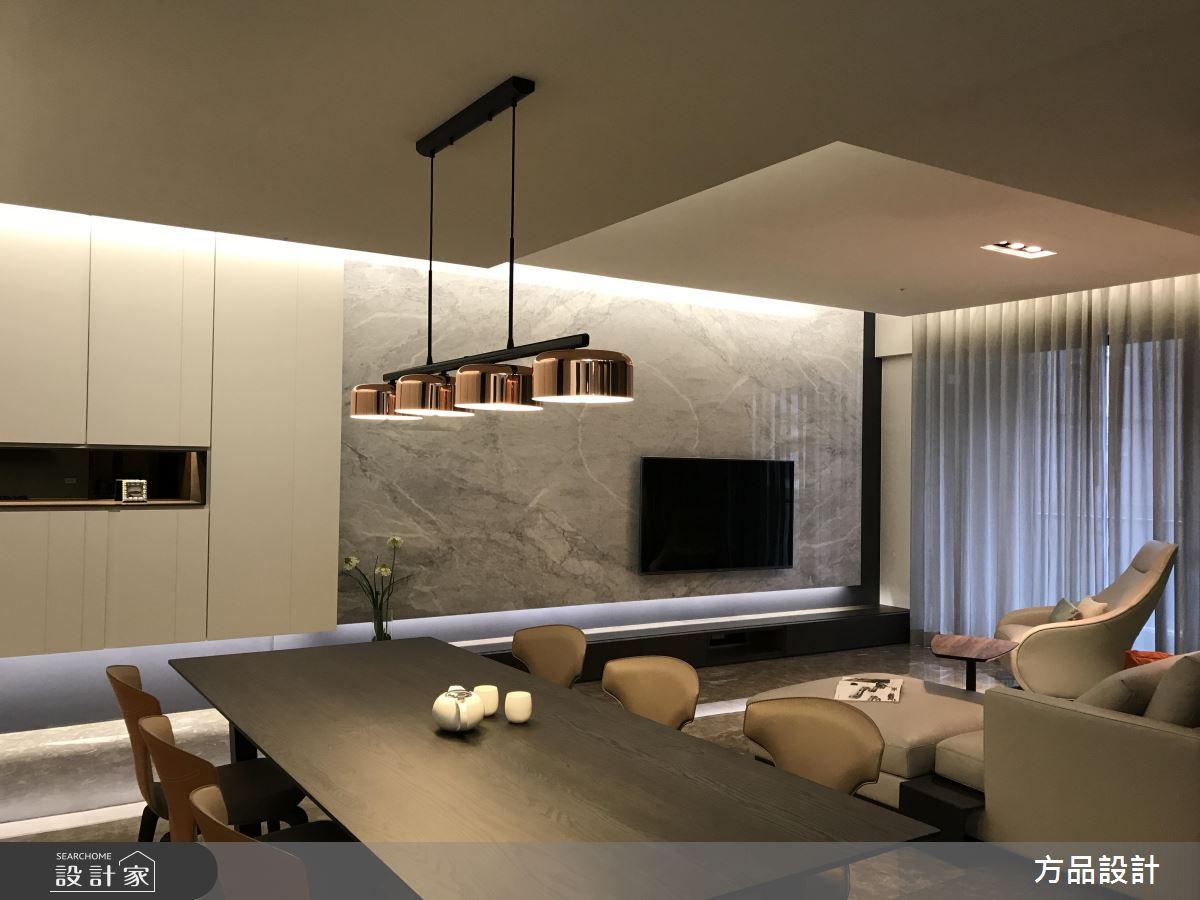 35 坪現代風時尚宅  天、地、壁與櫃體的俐落呈現