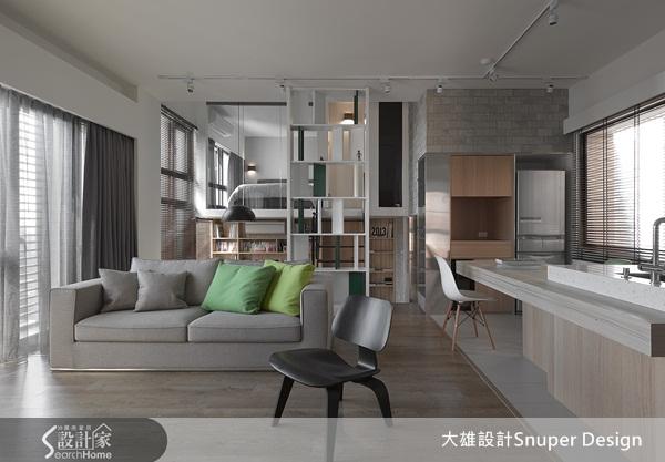 通透設計營造穿透視覺  24坪北歐風複層機能宅