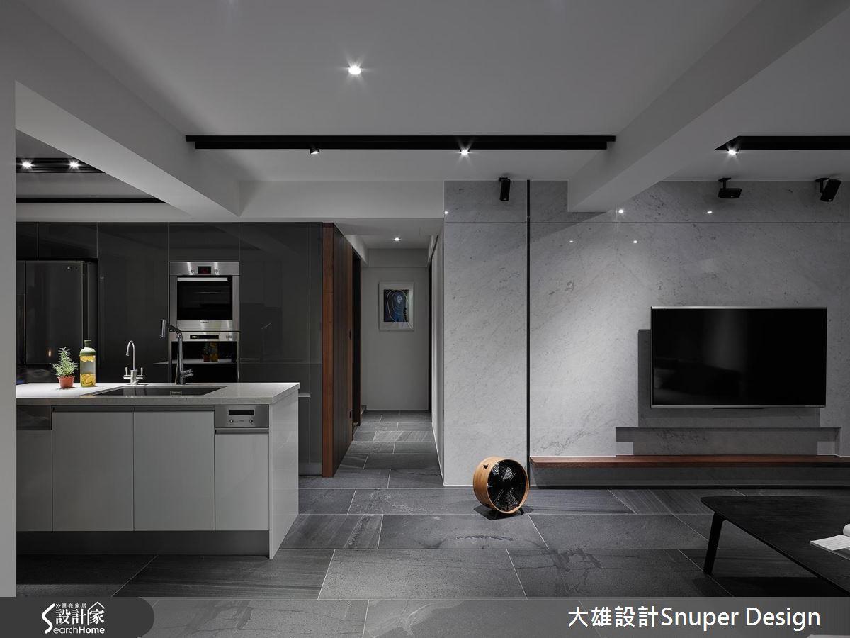 在舒靜灰質現代宅,優美譜寫 50 坪仲夏藍調