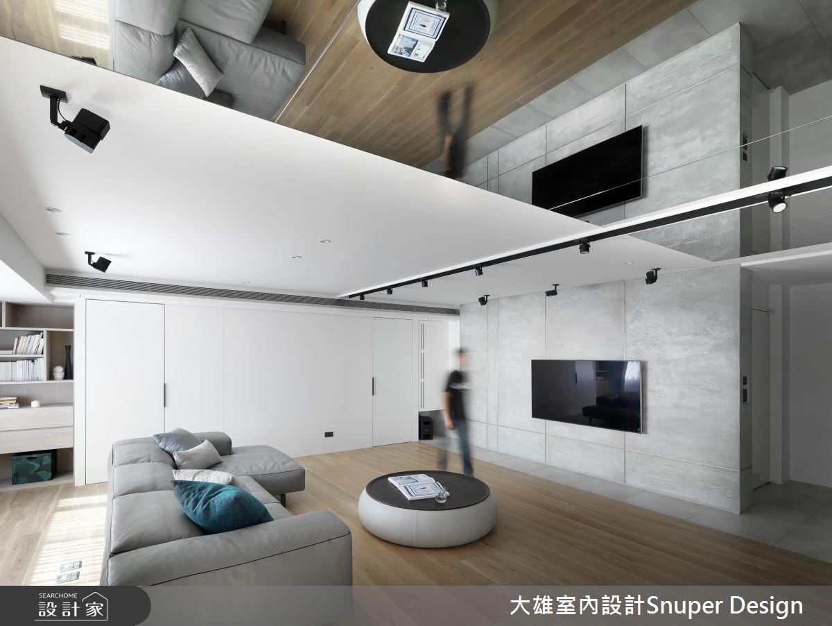 鏡面的趣味翻折 讓45坪現代風家屋掀起無限想像