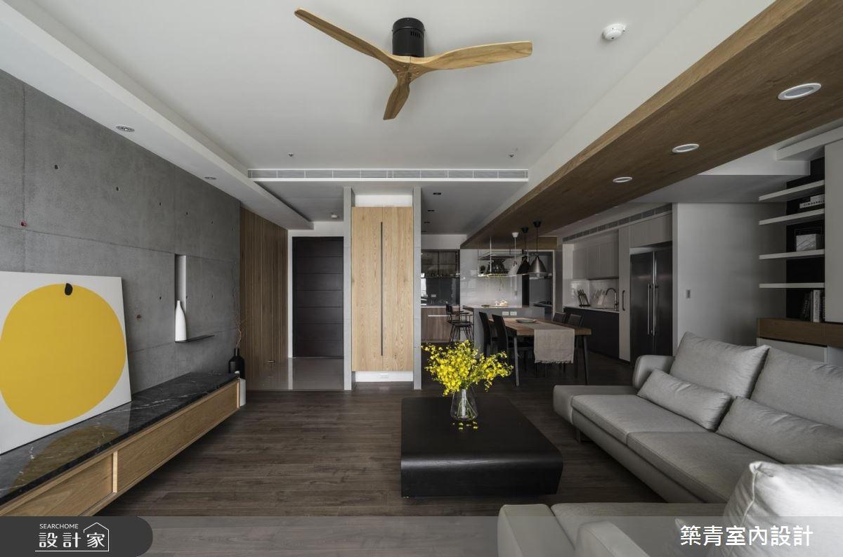 灰色與木質的輕巧邂逅,就在這間現代風沉靜暖居!