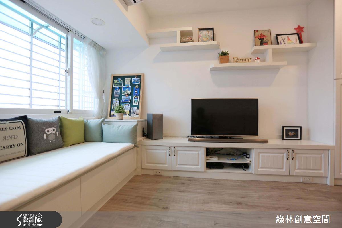 新婚小資首選!系統家具打造 24 坪純白鄉村光感宅