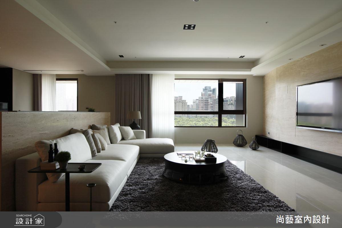 喝一杯窗外風景!高貴又自然的 52 坪現代居家