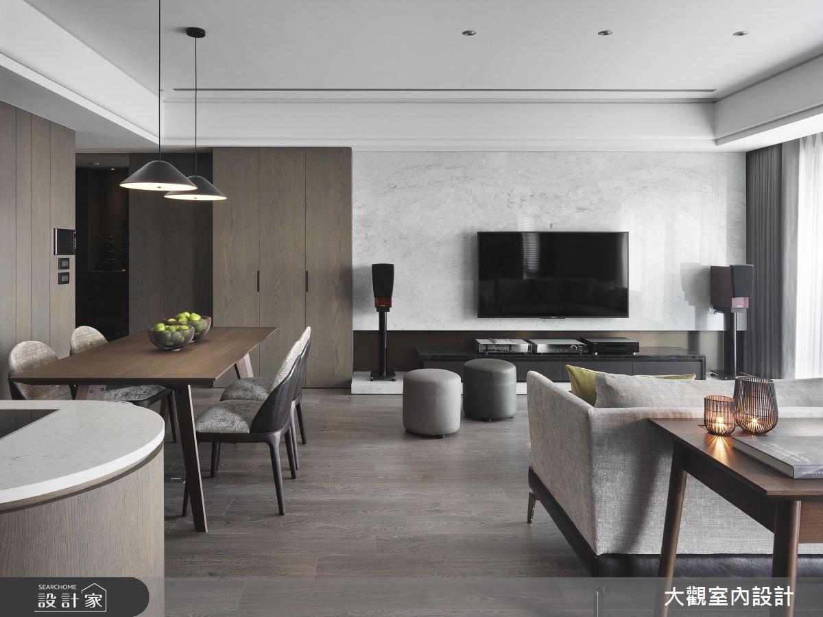 寬敞大客廳、輕食吧檯!量身訂製 34 坪高質感現代宅