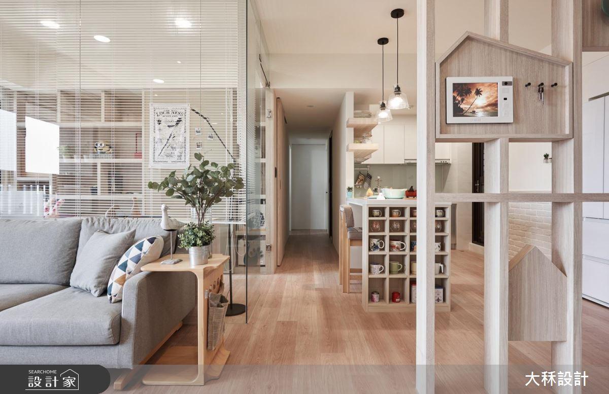 為寵物鸚鵡量身訂製的家! 明亮又寬敞的 25 坪清新北歐宅