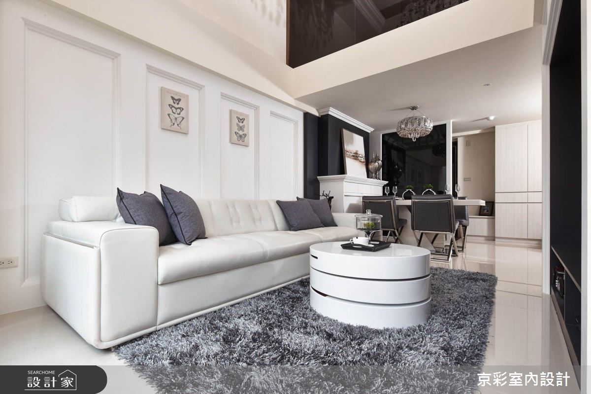 夾層老屋也能變豪宅!黑白新古典的簡單奢華