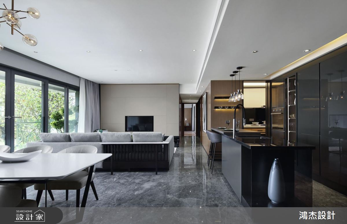 時尚大理石客廳 x 溫暖木質臥房 ! 每個空間都有專屬風格 !