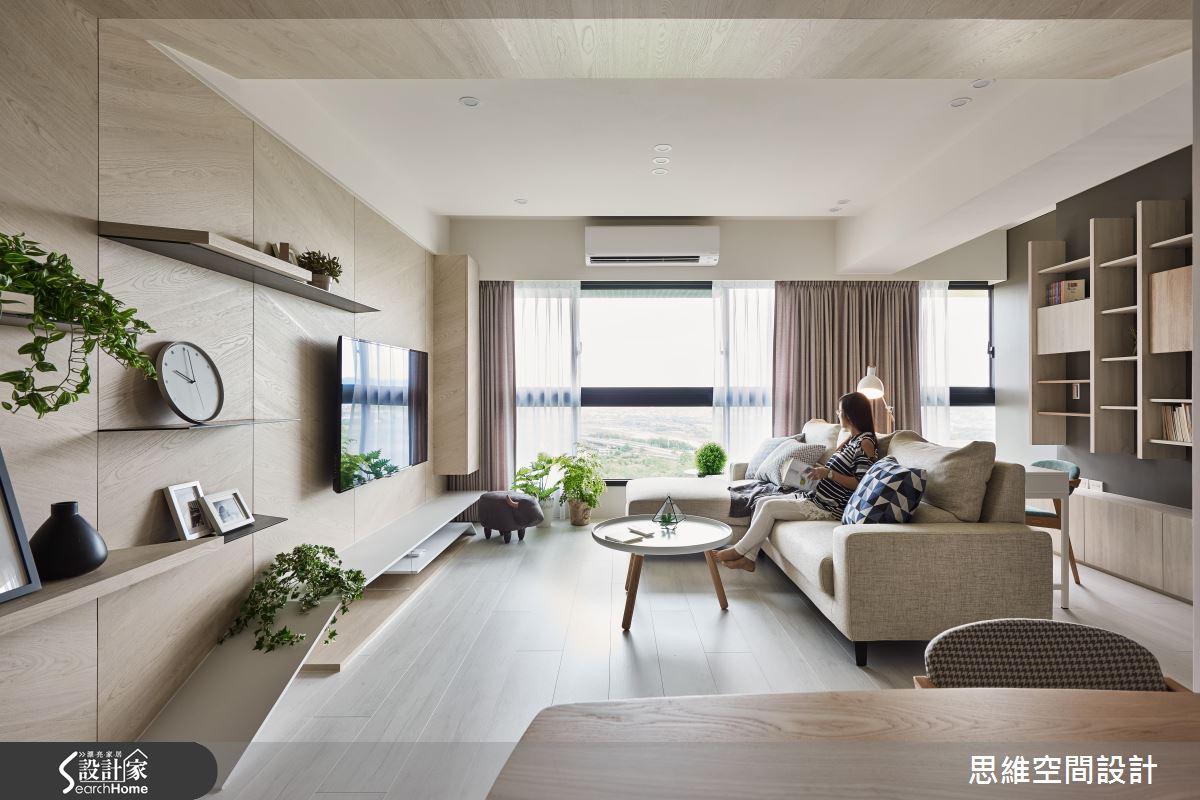 用陽光+空氣+植物養成一個家!我們的現代風新婚宅