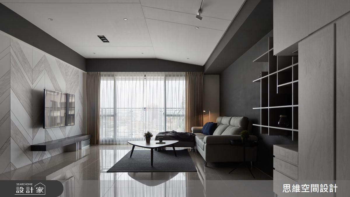 黑白配這樣設計超美型!33坪的現代風理性之居