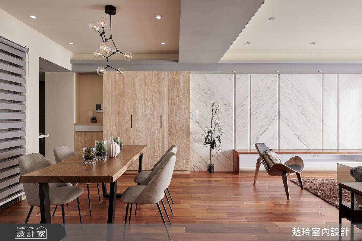 暖木與石材的完美結合 ! 實現 4 口之家的溫馨宅居生活