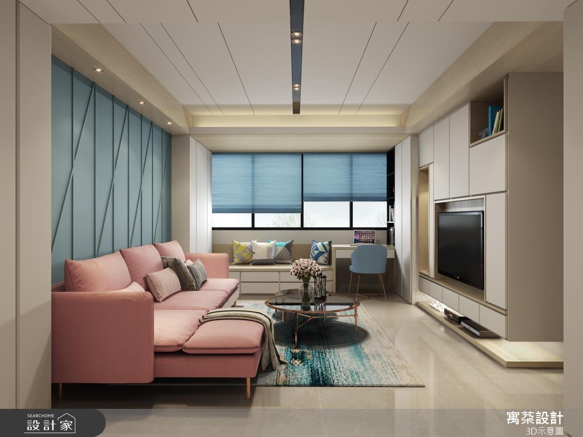 良好動線、超強收納!21 坪 3 房 2 廳的馬卡龍新婚宅