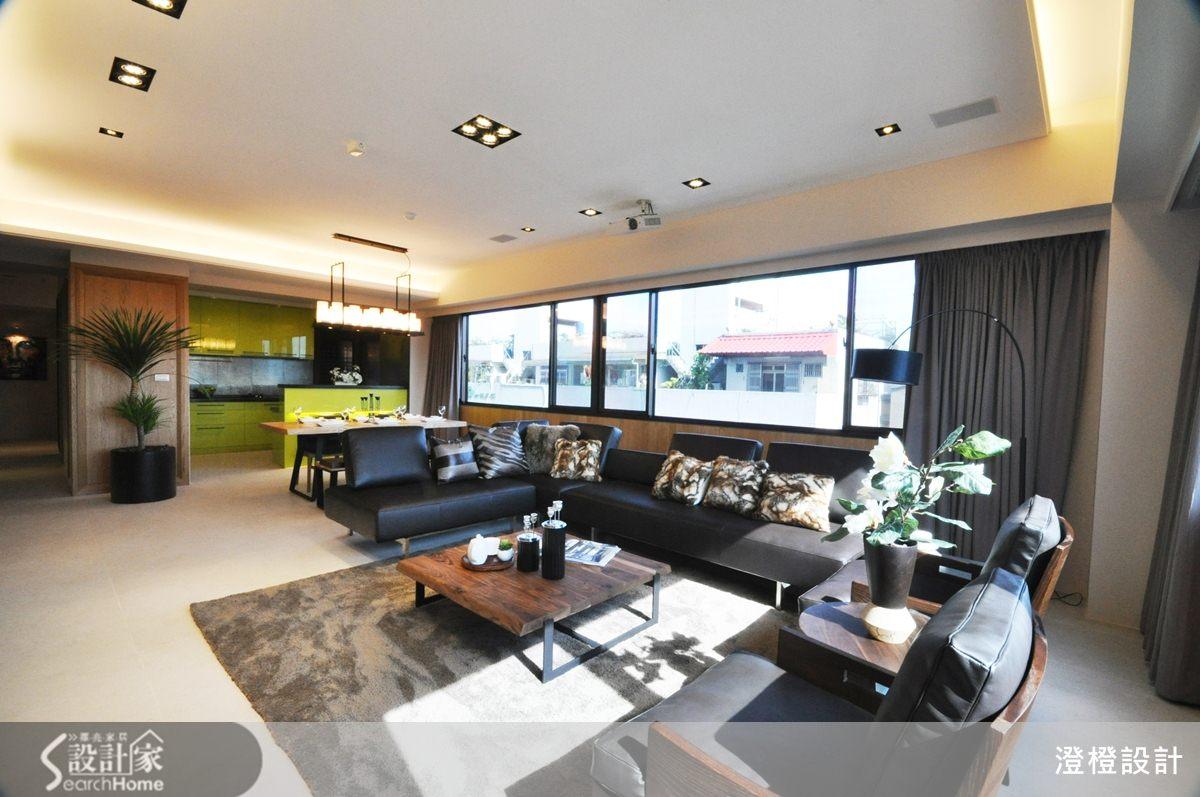 讓陽光注入充沛活力!寬敞又明亮的 41 坪現代風居家