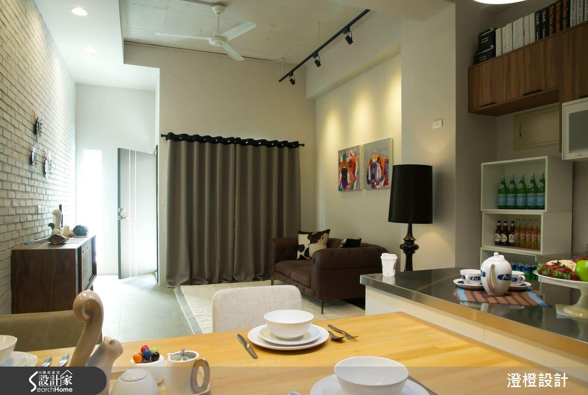 富有人文氣息的Loft 美宅.25坪老屋打造3房2廳2衛+陽光小花園!