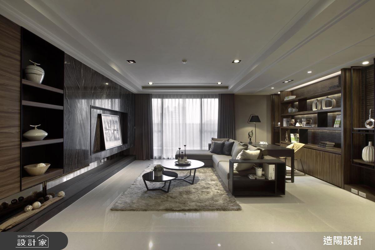 充滿書香氣息的家,把現代風居宅變成一幅東方風情畫