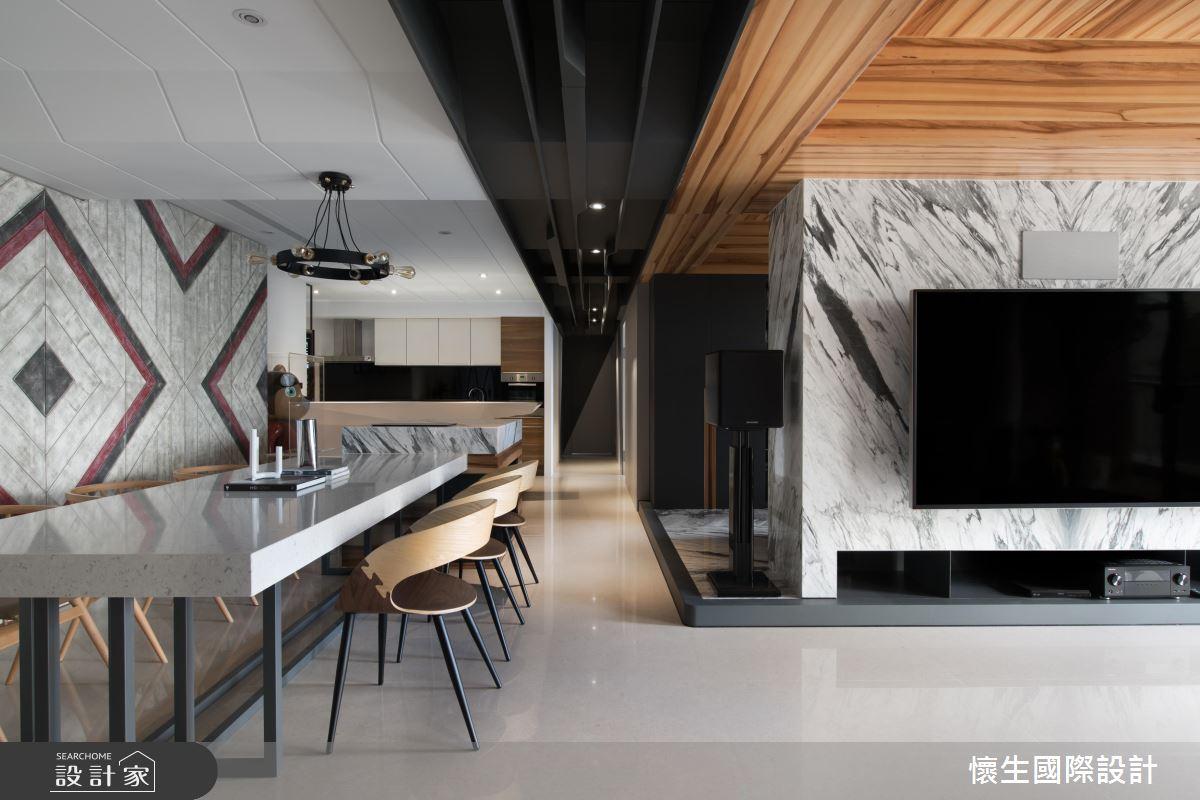 掀起時尚設計風潮!90 坪個性有型現代宅