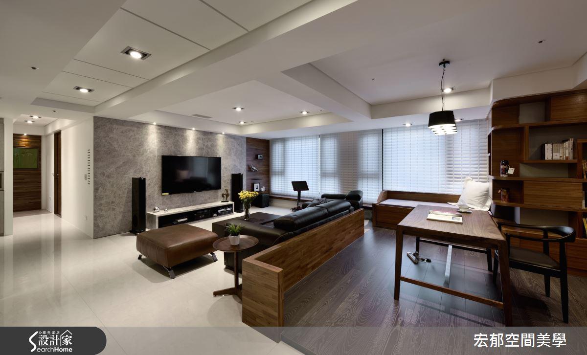 質感的「悅」讀情調 揉合優雅與沉穩的65 坪現代美寓