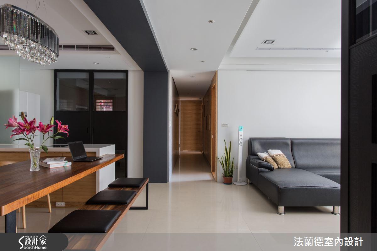 新屋的念舊長廊 在 60 坪現代宅延續老家情感