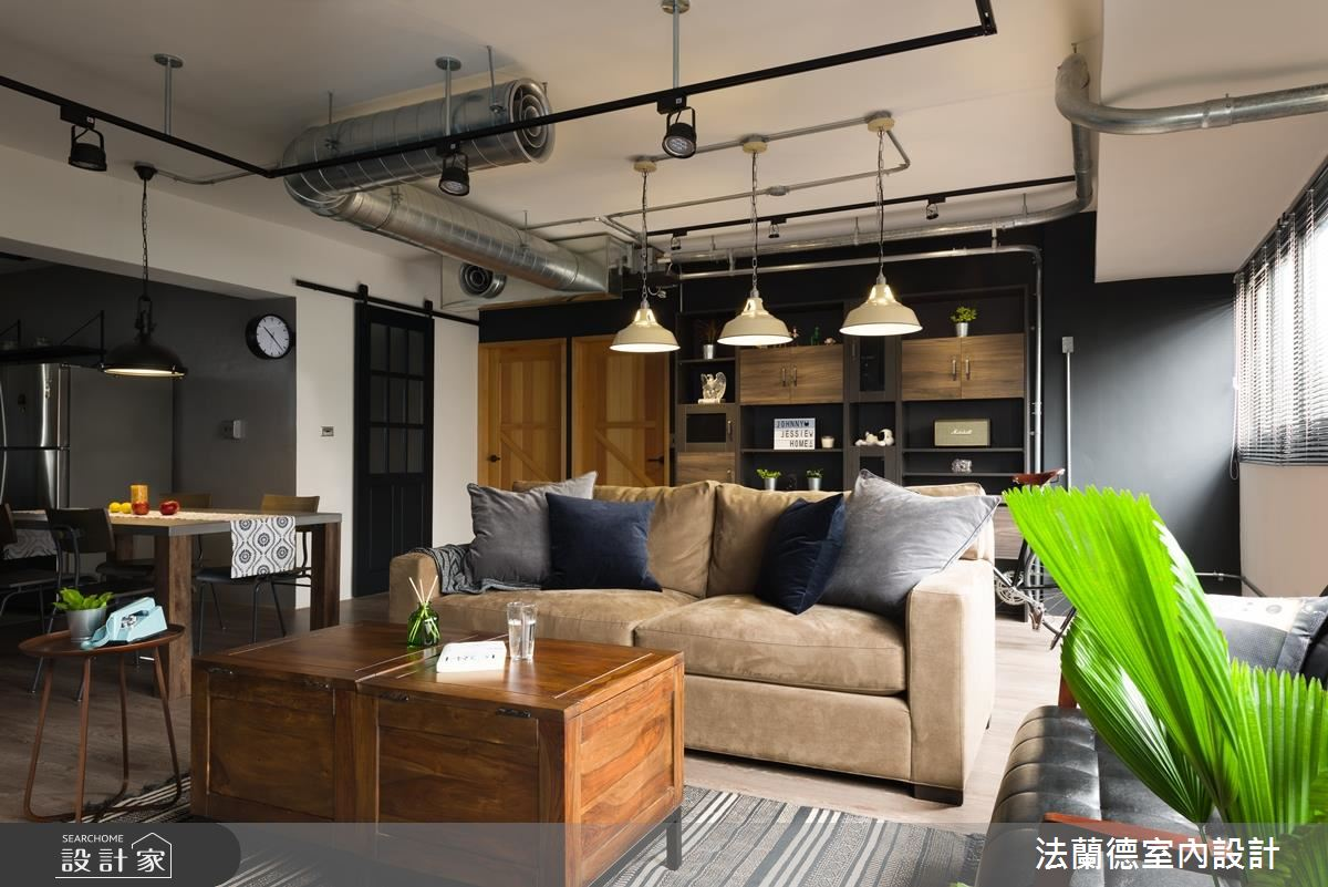 個性咖啡廳在我家!看 30 年老舊辦公室化身美式工業宅