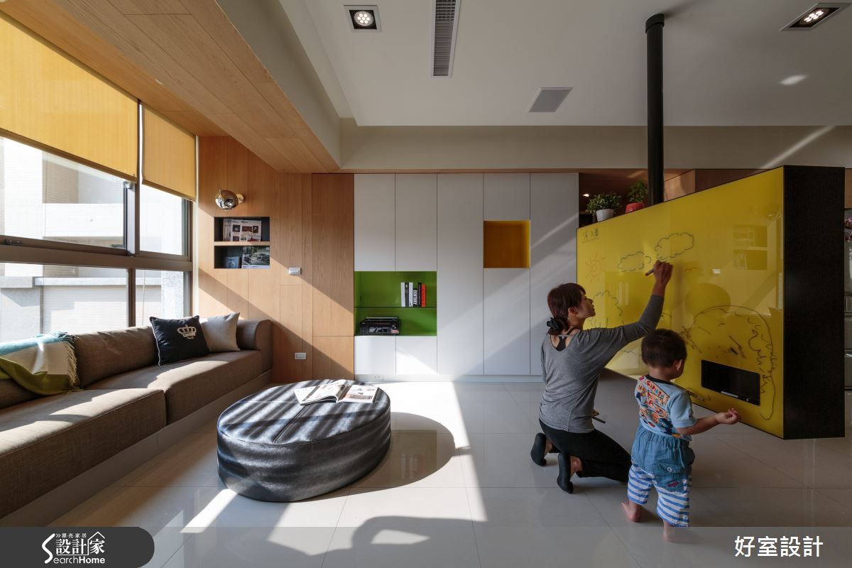 我的28坪居宅也有小畫室 讓孩子在家開展覽