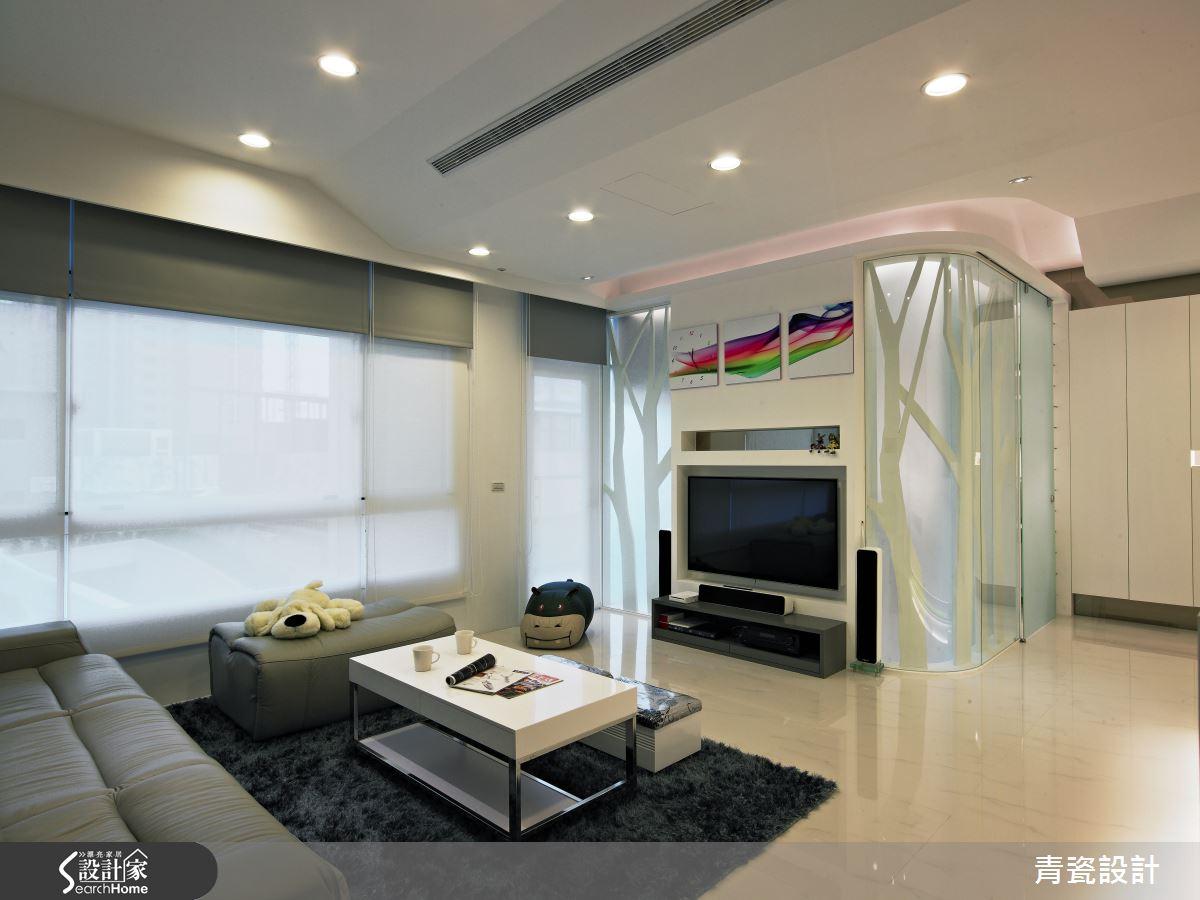 簡約透亮的60坪純白部屋,一家五口的浪漫國度