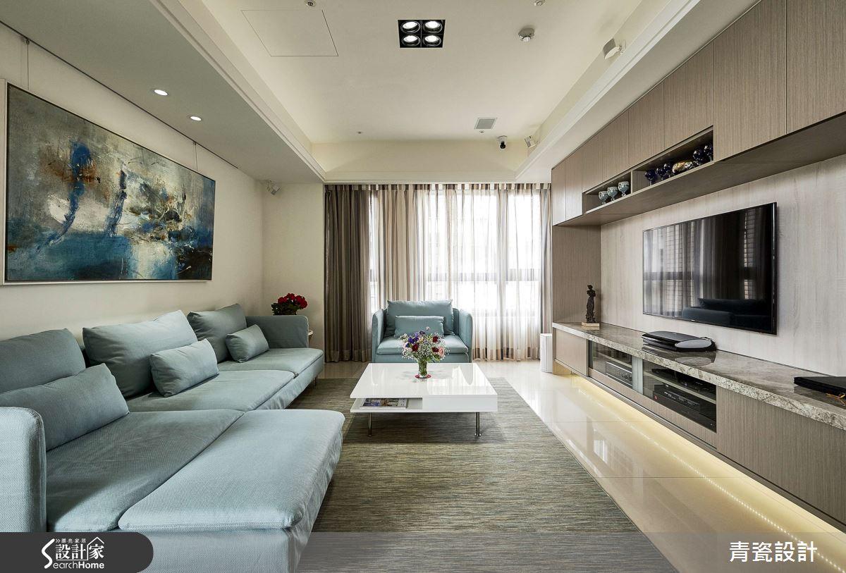 最喜歡膩在一起!35坪空間容納大沙發、小酌吧台、還可以看電影!