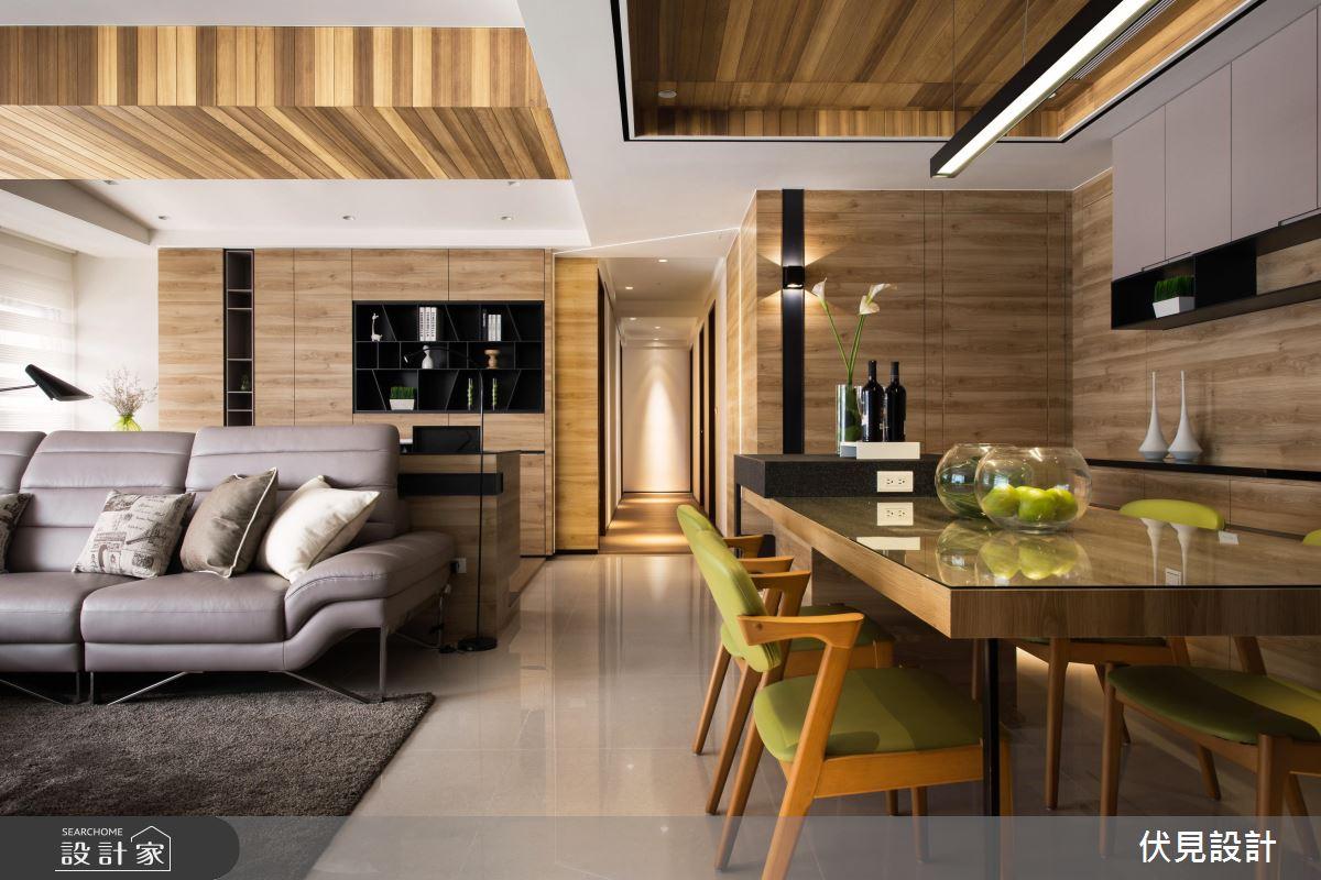 木質紋路 X 俐落線條 賦予 52 坪北歐宅不一樣的個性 !