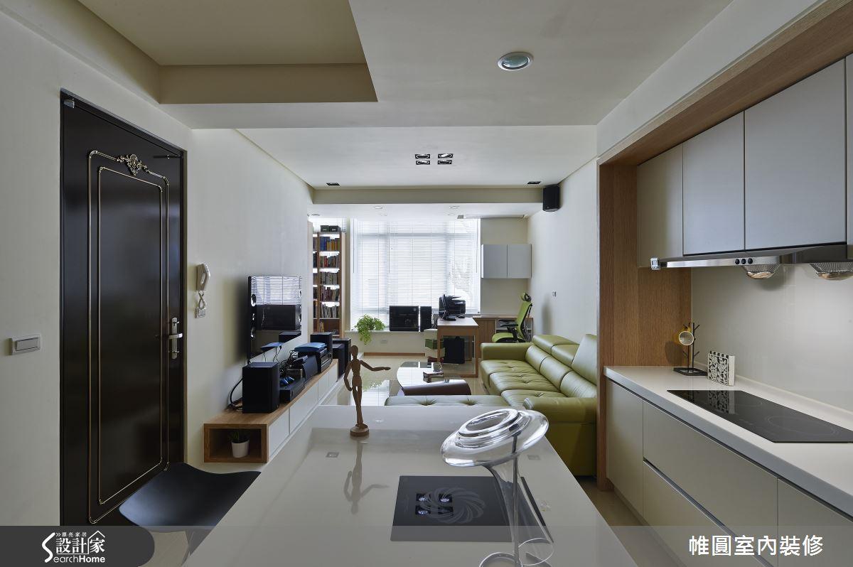 在18坪現代宅 開啟我們兩人的輕質生活