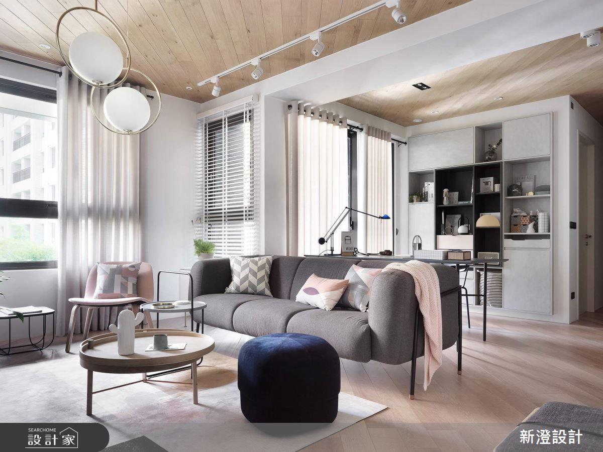 北歐風的優雅氣質!雙人甜蜜宅完美詮釋牆面裝飾術