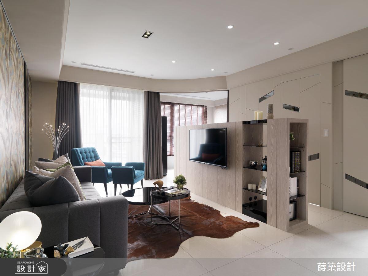 17 坪現代風居家,更衣間、小吧檯、美客廳都在這裡!