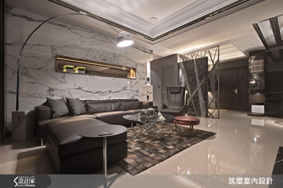 石作綻放的視覺饗宴 讓 65 坪居家化身裝置藝術館
