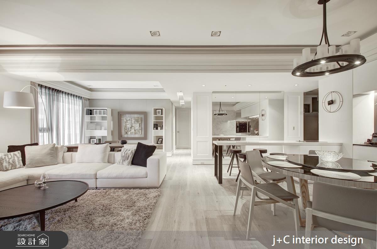 恰到好處的唯美氣質 ! 來自 80 坪純白系新古典宅