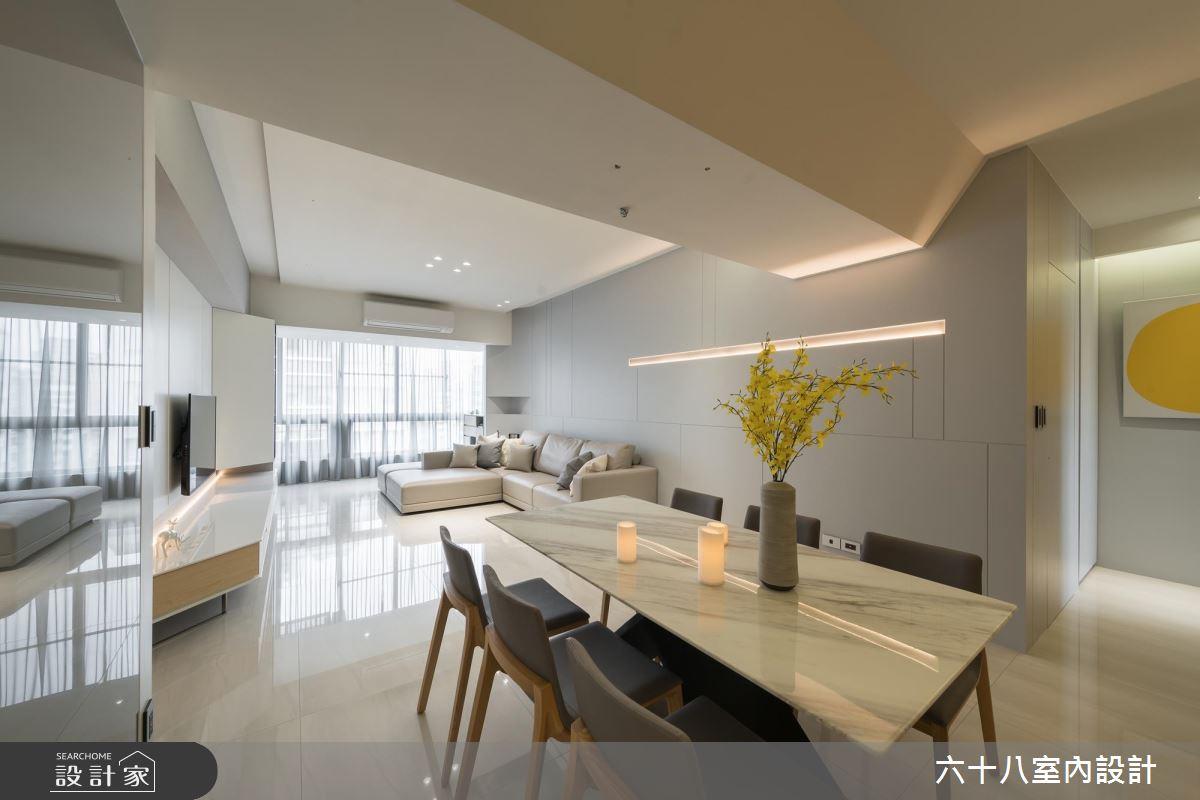 流暢線條x通透設計 35坪中古屋巧變時尚家屋