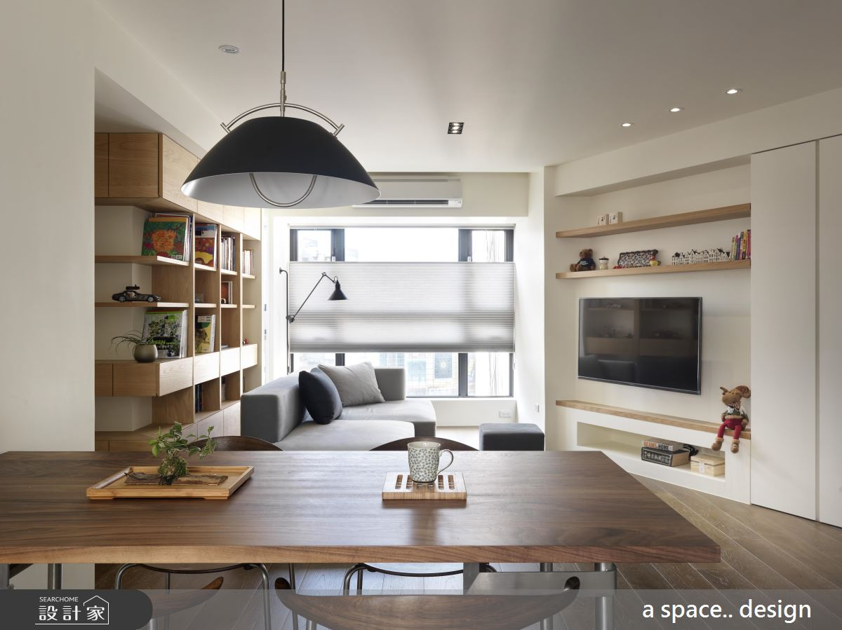 三代 4 口的清透生活 都在 30 坪日系簡約之家