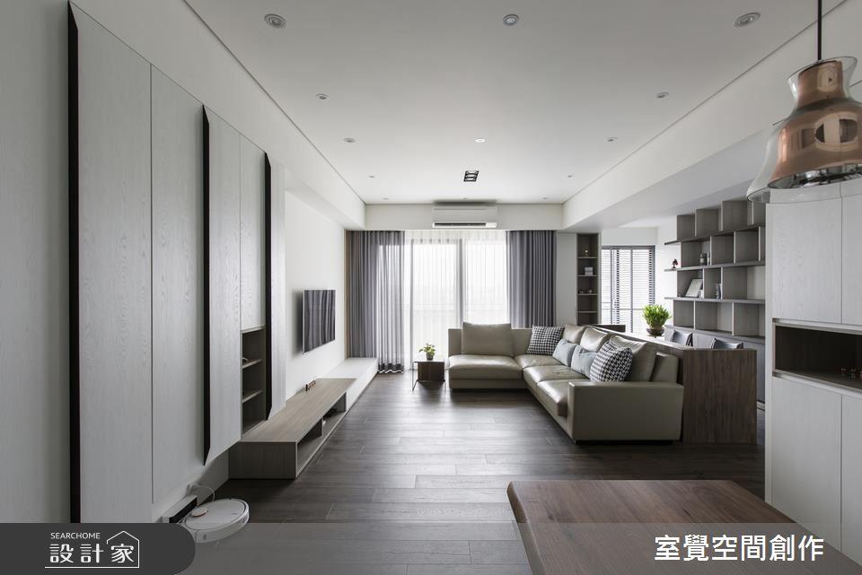 這麼寬敞的家竟只有 25坪!淺灰控喜愛的減壓系居宅
