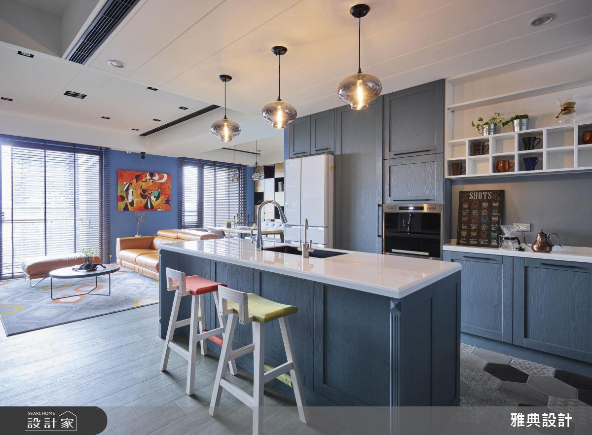 這麼美的吧檯、客廳哪裡找?不住國外就能擁有工業風型宅