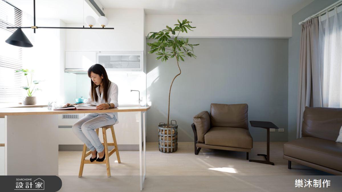 15坪北歐風自在小居  輕鬆容納 2 廳 2 房外加 1 書房!