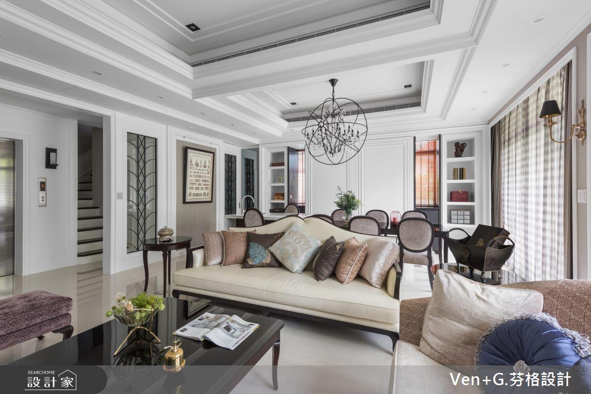 優雅純白的氣質典範! 130 坪貴族美式風莊園別墅