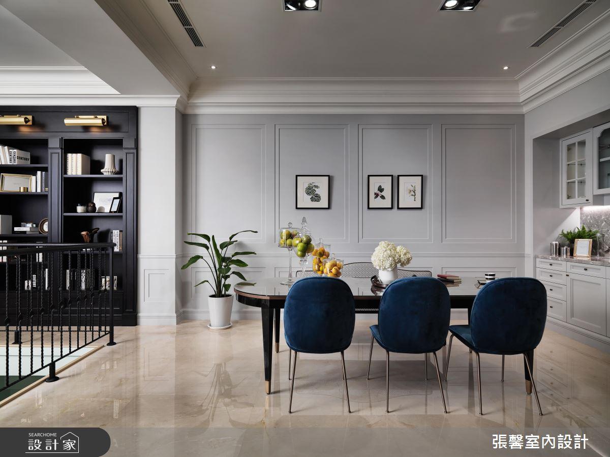 寧靜氣質淺灰藍! 打造一家 5 口的時尚歐美款別墅