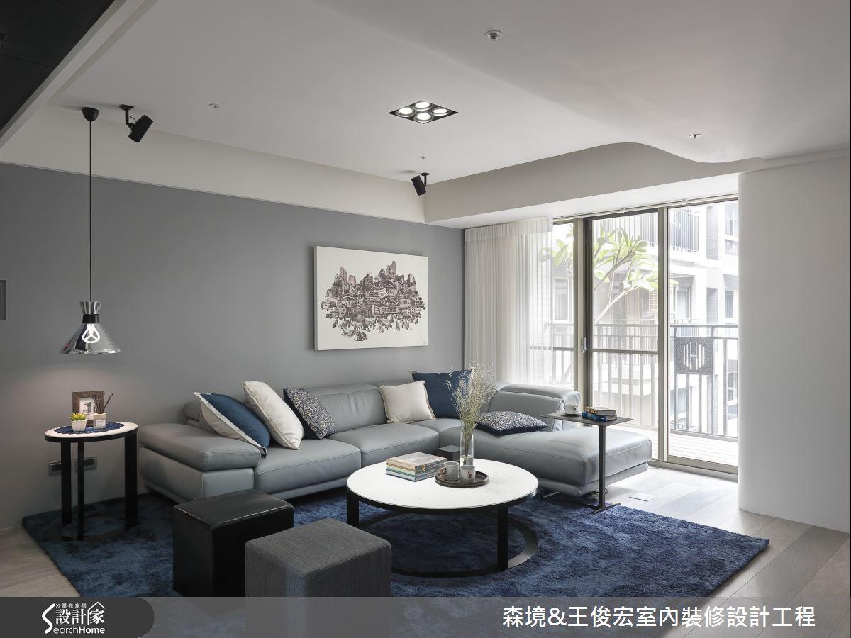 打造一脈靜謐波瀾 60 坪現代宅邸的湛藍禪意