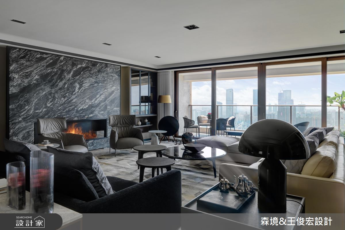 中西合璧現代風大宅 用大理石砌出氣派客廳 !