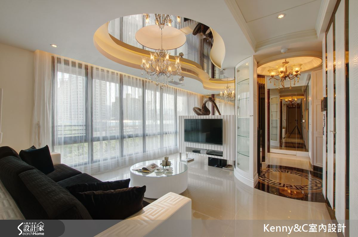 33坪奢華新古典風格宅邸,打造三代同堂的傳世富貴之家!