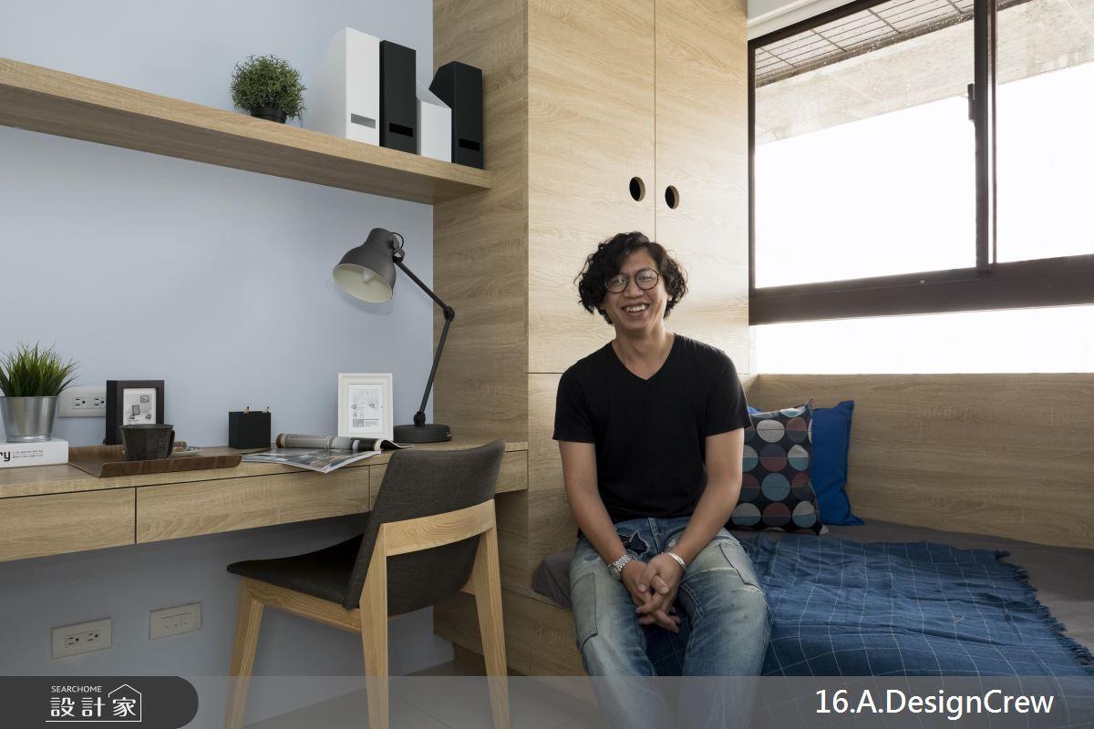 巧用書房造型木窗 框出專屬 25 坪現代宅生活風景