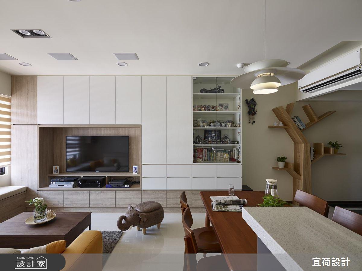 樹木造型收納 X 廚房塗鴉牆!一展北歐生活的繽紛自在