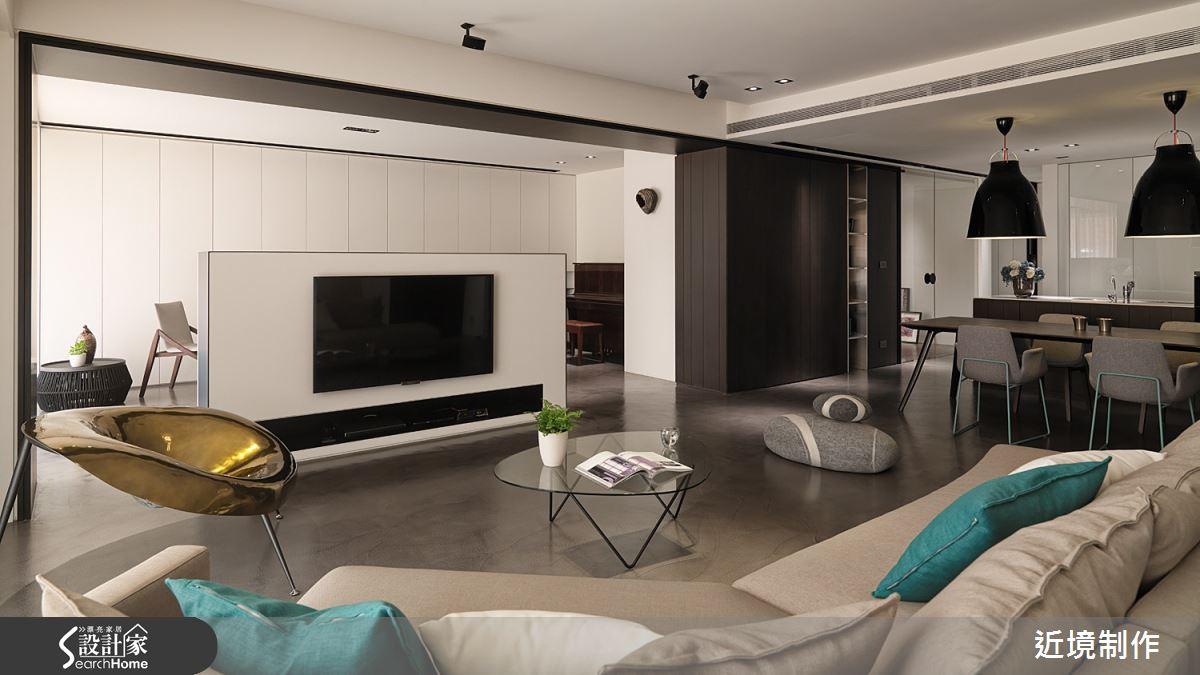摩登的現代感!黑白灰淬煉出無窮魅力的大器美宅