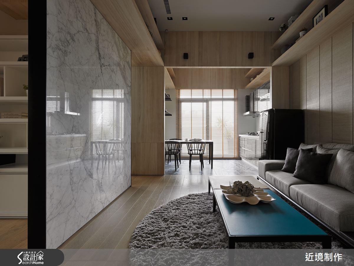 21 坪現代人文宅 木質框架建構的清新視野