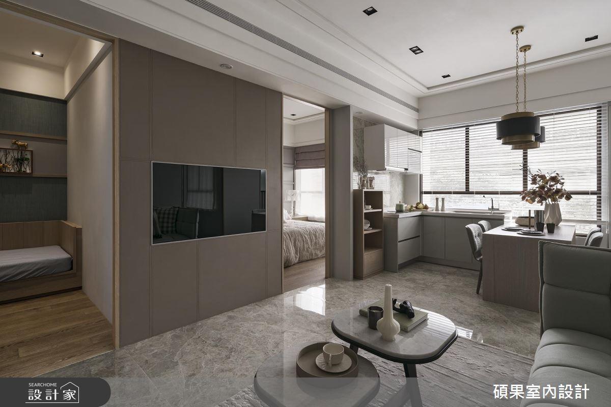 3 房 2 廳+陽光廚房,22 坪美式風小豪宅一手包辦