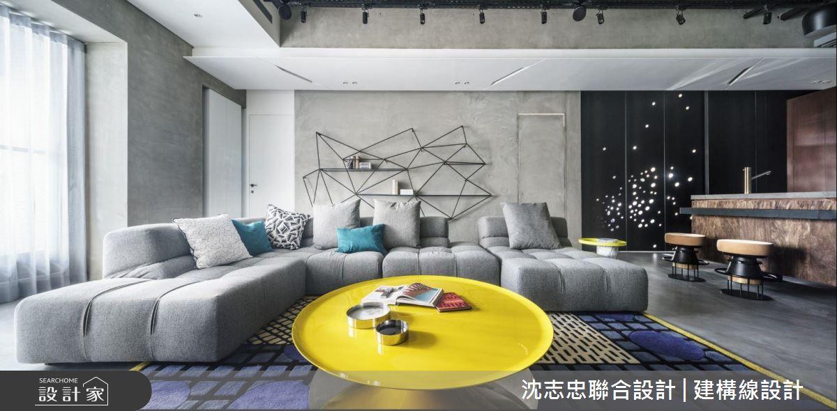 顛覆框架的空間律動,藝術展覽般的居家面貌