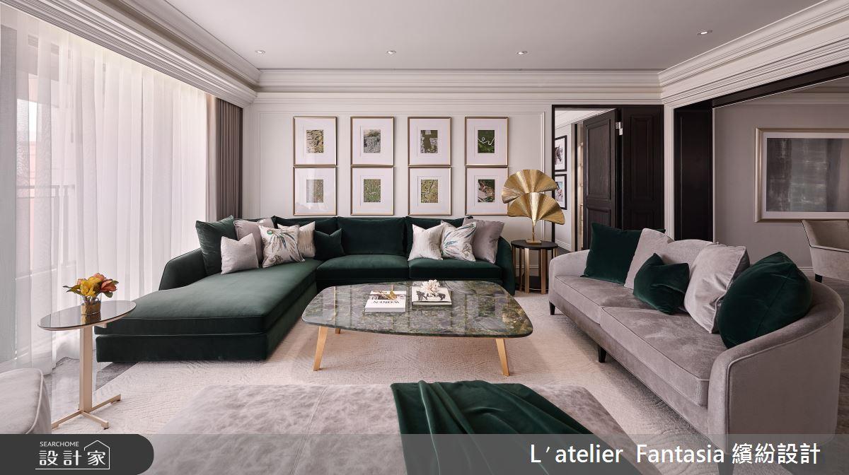 雀翎輝煌的現代詮釋!編織綠寶石和黃金的新古典訂製服
