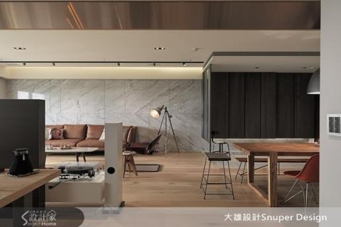 材質、家具、家飾混搭,讓工業感和現代禪風和諧共處